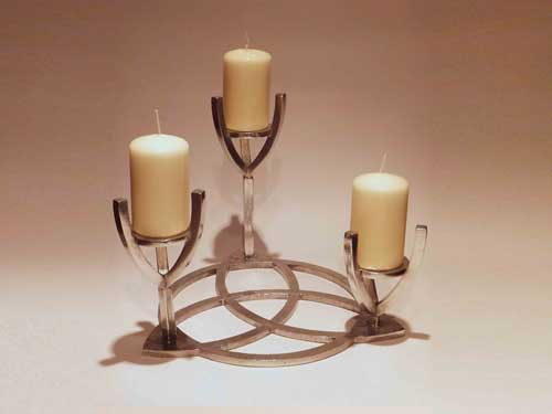 A candle holder for the altar