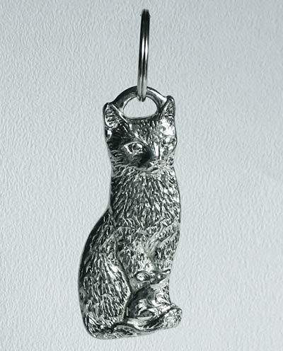 cat mouse keyring