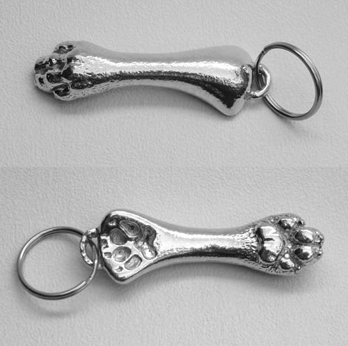 dog paws key ring